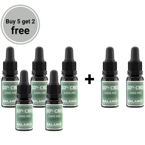 Buy 5 get 2 free bundle - CBD öljy 10% (1000mg)